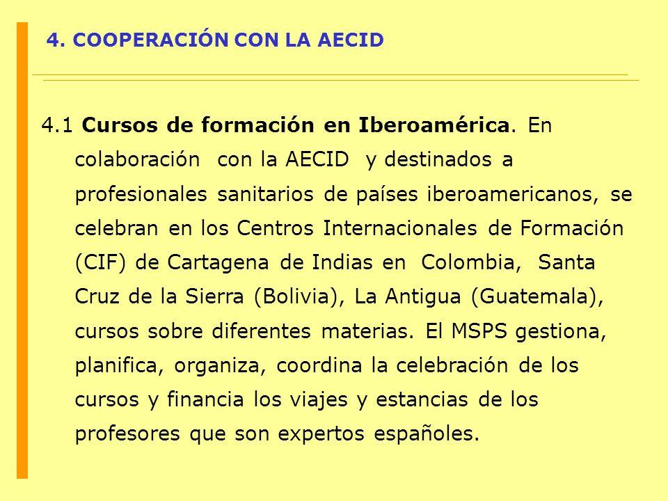 4. COOPERACIÓN CON LA AECID