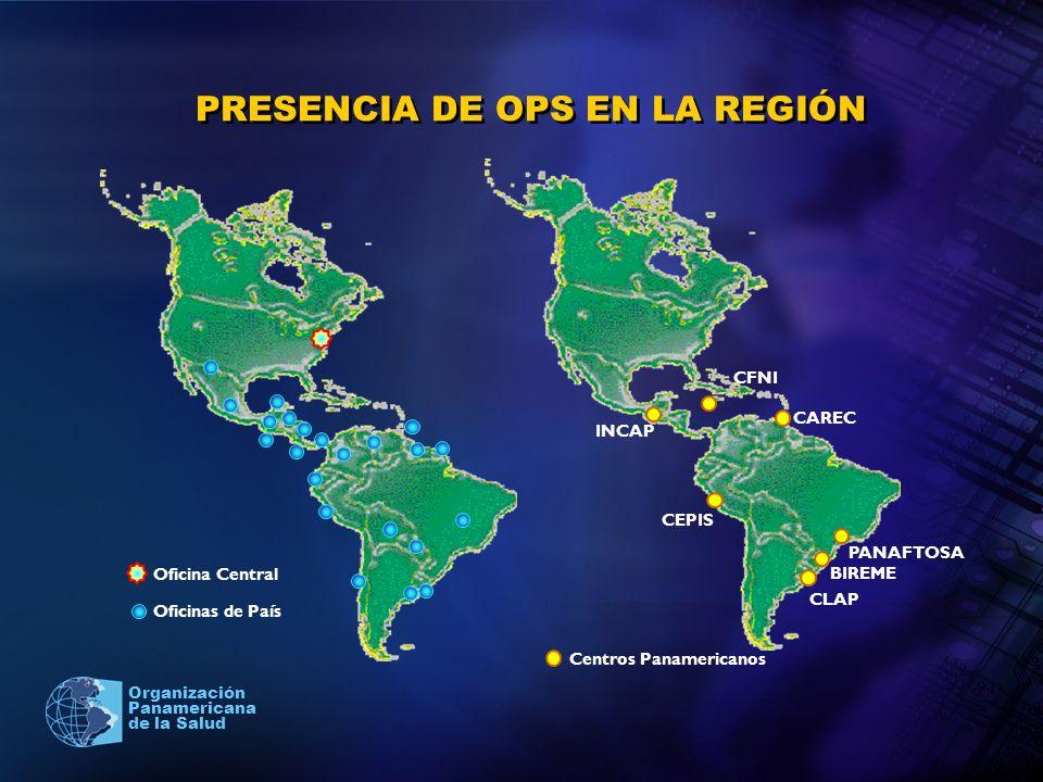 PRESENCIA DE OPS EN LA REGIÓN