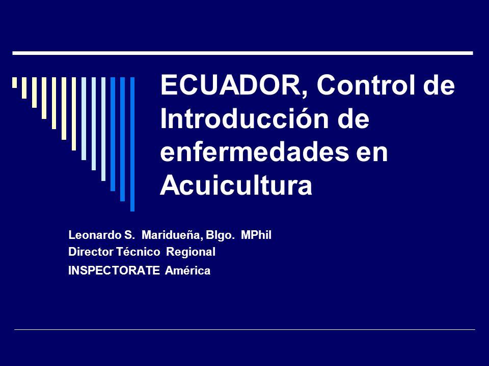 ECUADOR, Control de Introducción de enfermedades en Acuicultura
