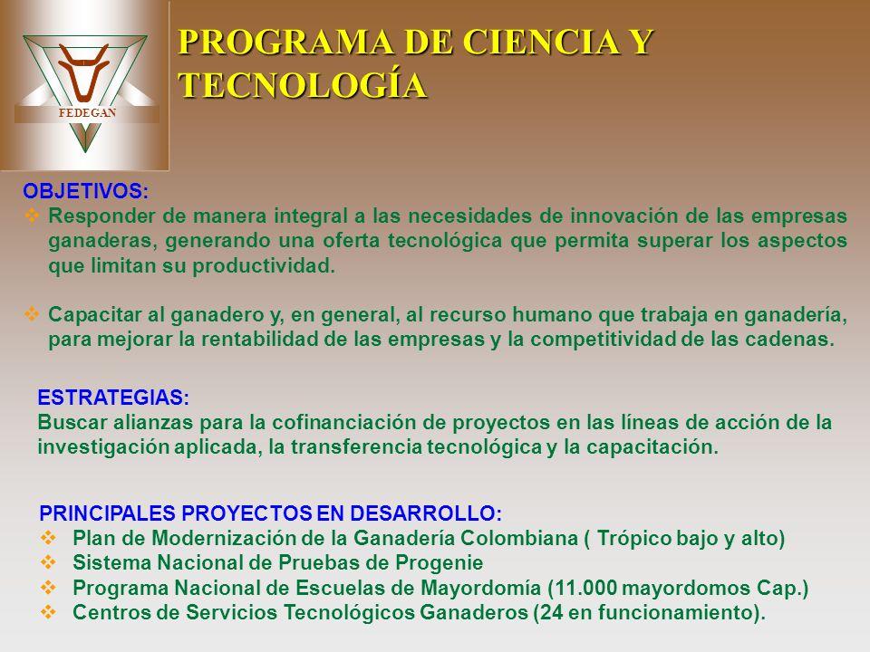 PROGRAMA DE CIENCIA Y TECNOLOGÍA