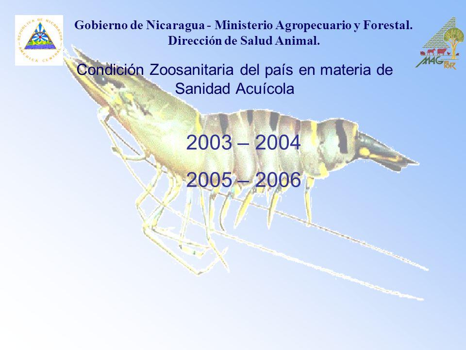 Condición Zoosanitaria del país en materia de Sanidad Acuícola