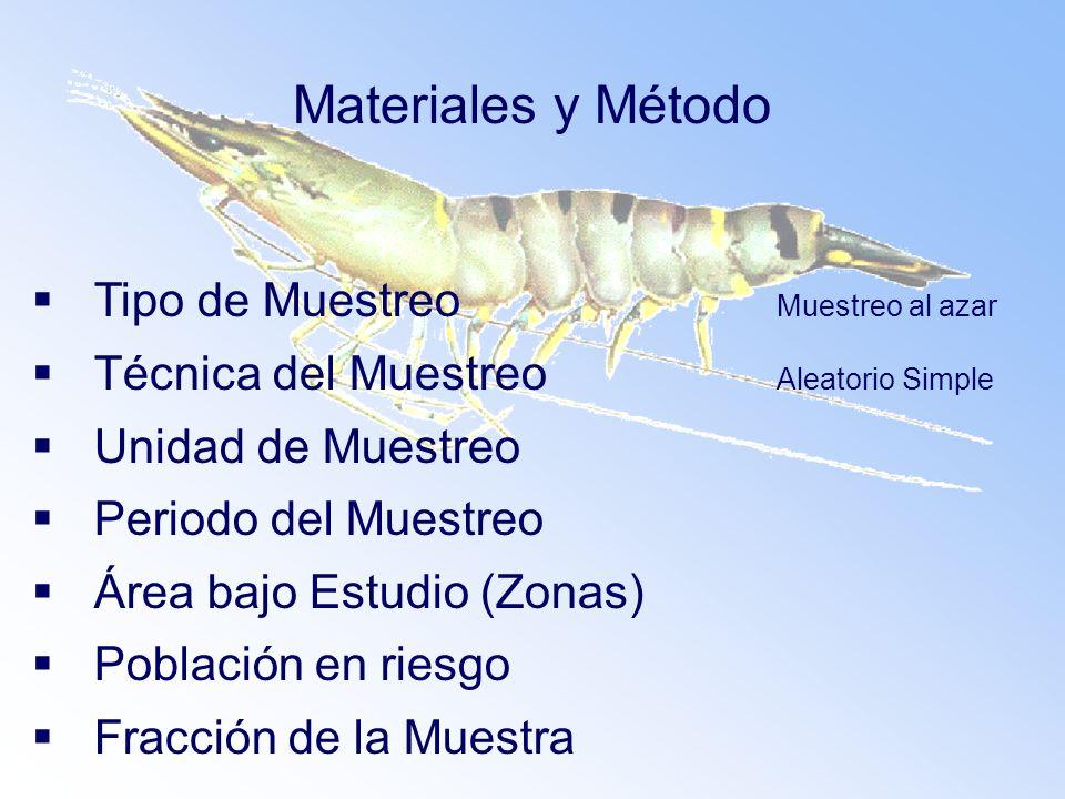 Materiales y Método Tipo de Muestreo Muestreo al azar
