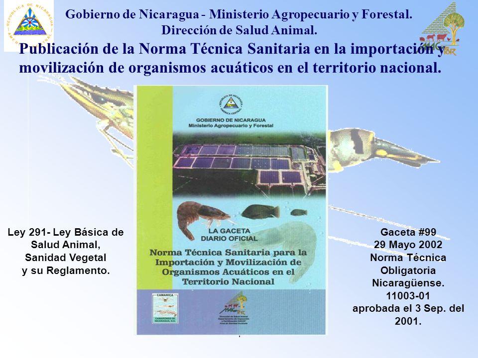 Ley 291- Ley Básica de Salud Animal, Sanidad Vegetal y su Reglamento.