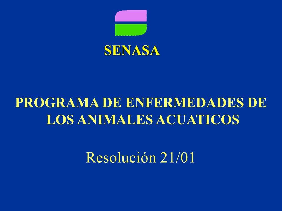 PROGRAMA DE ENFERMEDADES DE LOS ANIMALES ACUATICOS