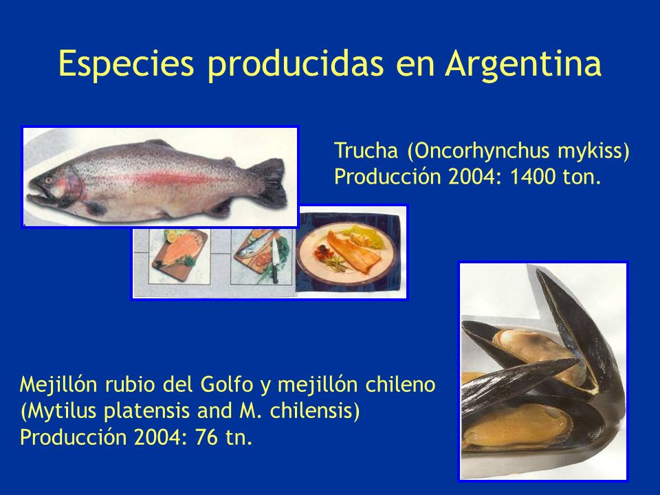 Especies producidas en Argentina