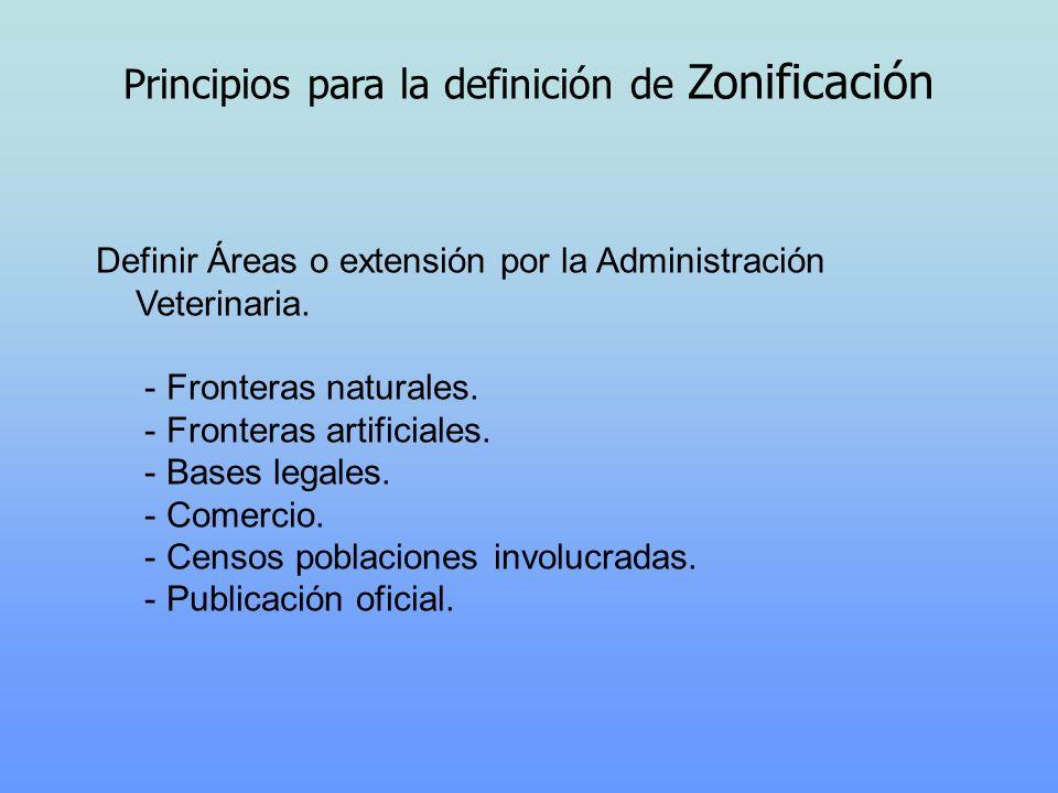 Principios para la definición de Zonificación