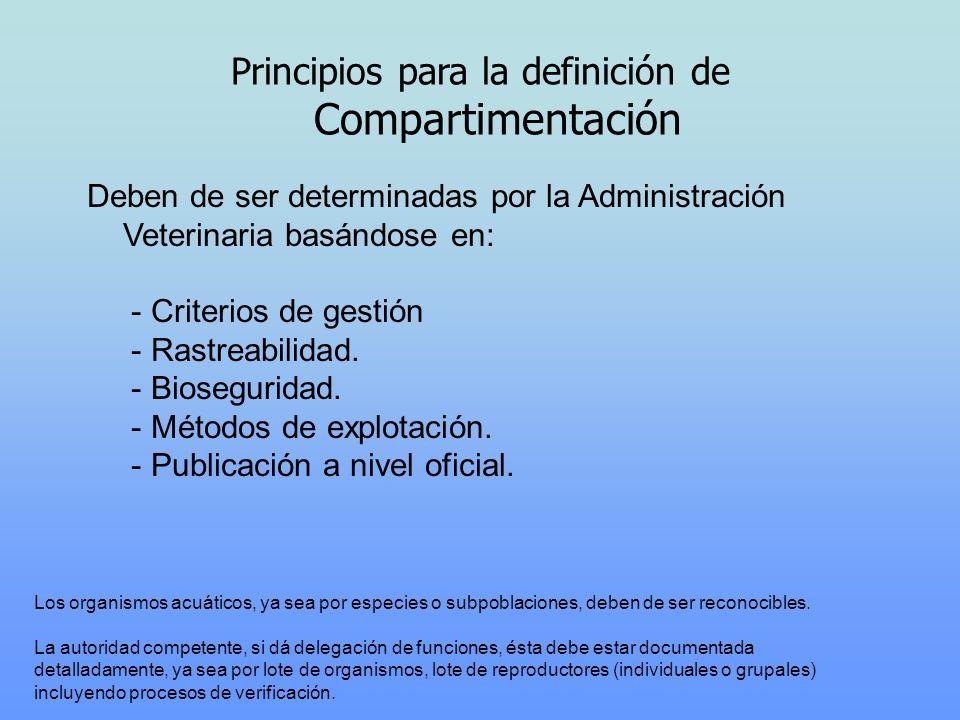 Principios para la definición de Compartimentación
