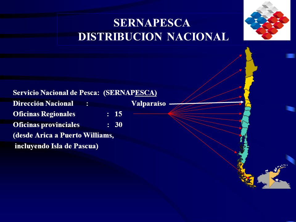 SERNAPESCA DISTRIBUCION NACIONAL