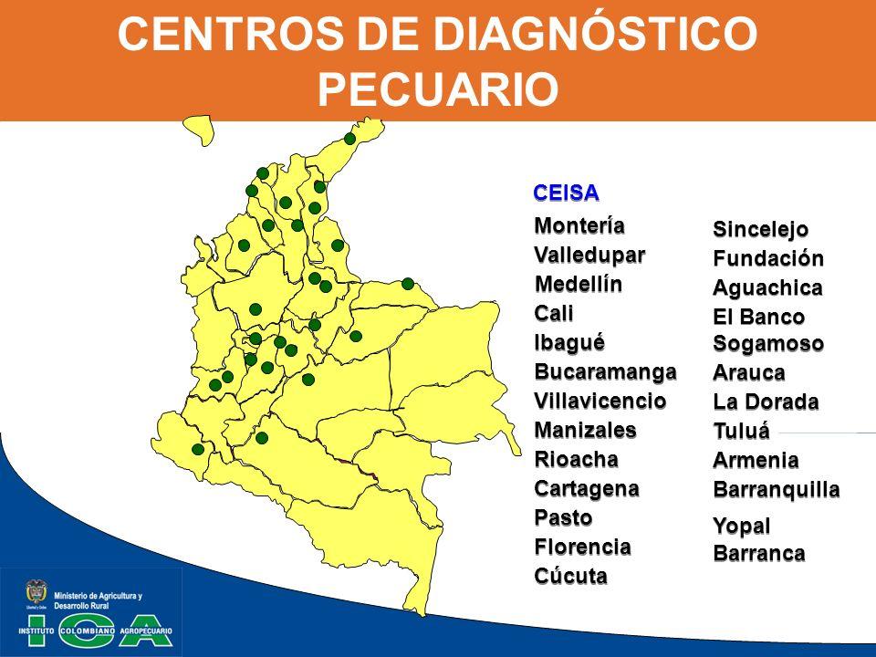 CENTROS DE DIAGNÓSTICO PECUARIO