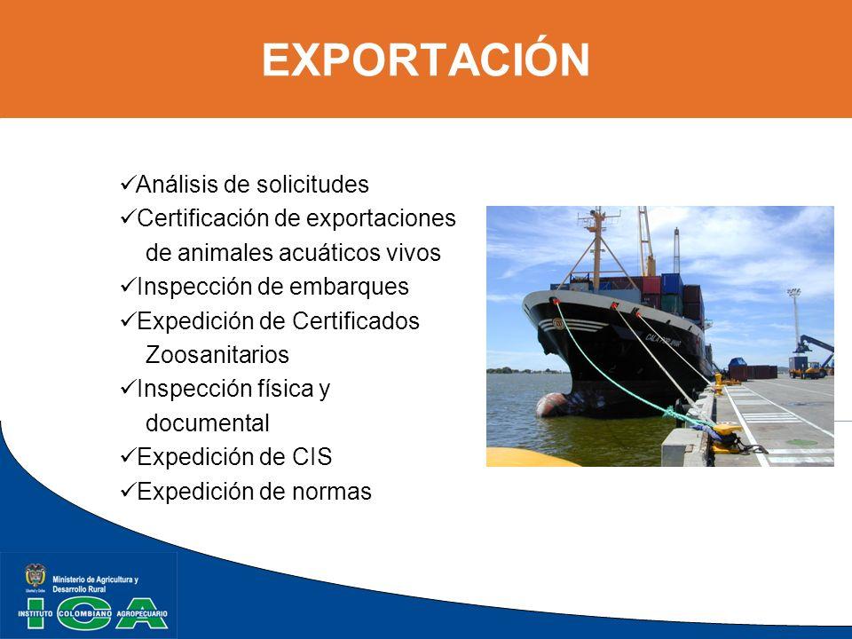 EXPORTACIÓN Análisis de solicitudes Certificación de exportaciones