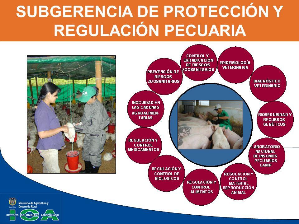 SUBGERENCIA DE PROTECCIÓN Y REGULACIÓN PECUARIA