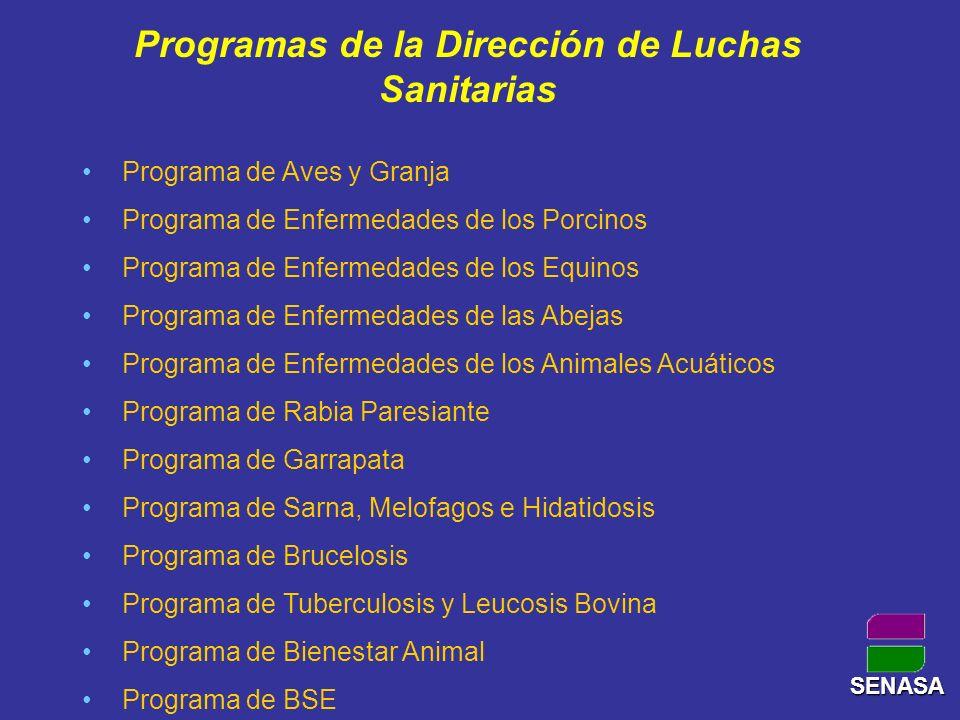 Programas de la Dirección de Luchas Sanitarias