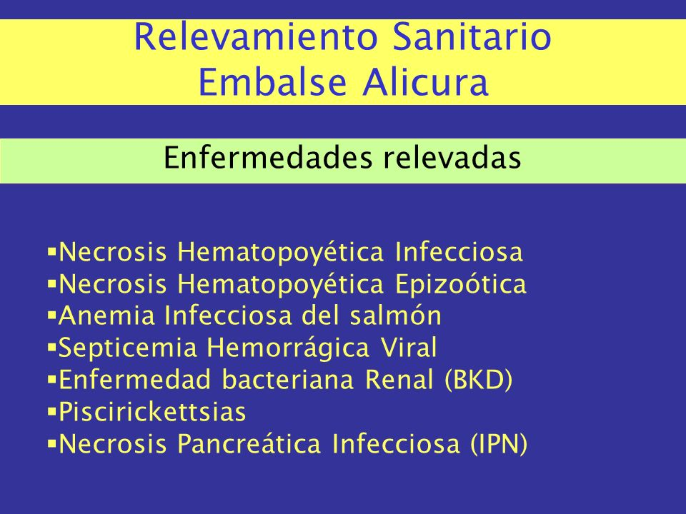 Relevamiento Sanitario Embalse Alicura