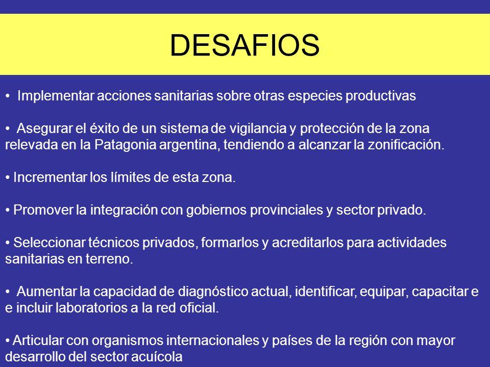 DESAFIOS Implementar acciones sanitarias sobre otras especies productivas.