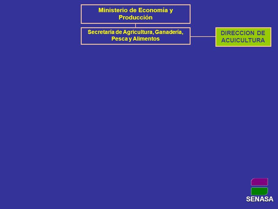 SENASA Ministerio de Economía y Producción DIRECCION DE ACUICULTURA