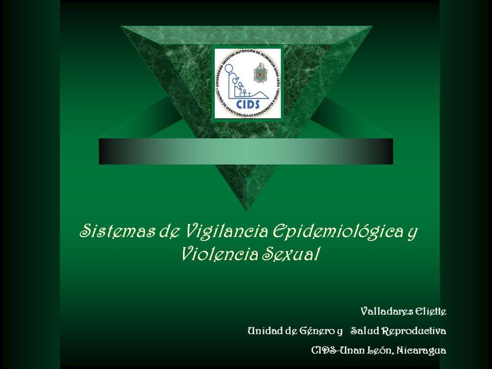 Sistemas de Vigilancia Epidemiológica y Violencia Sexual