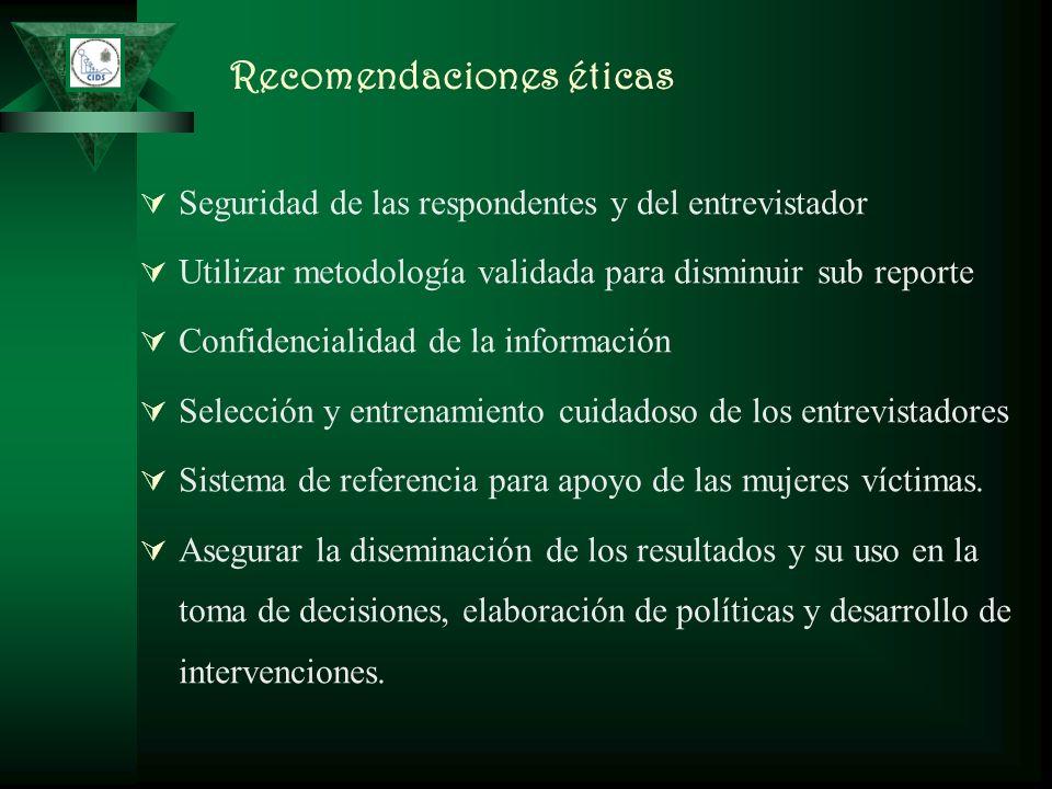 Recomendaciones éticas