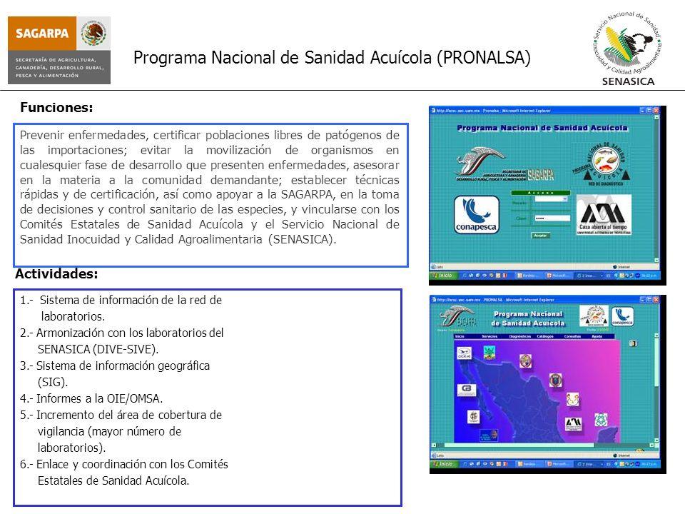 Programa Nacional de Sanidad Acuícola (PRONALSA)