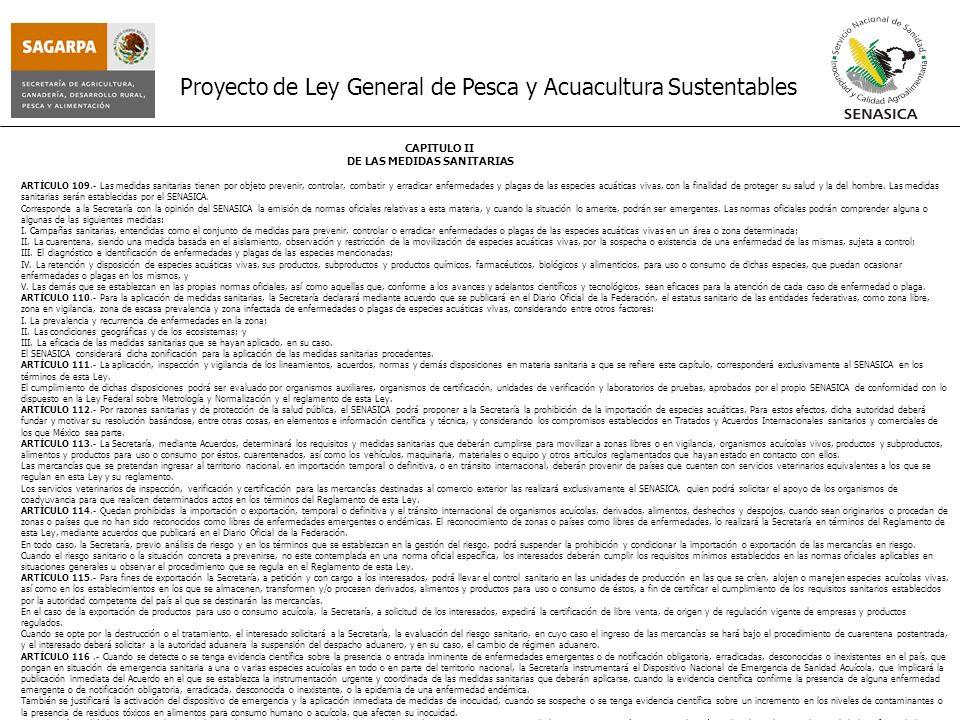 Proyecto de Ley General de Pesca y Acuacultura Sustentables
