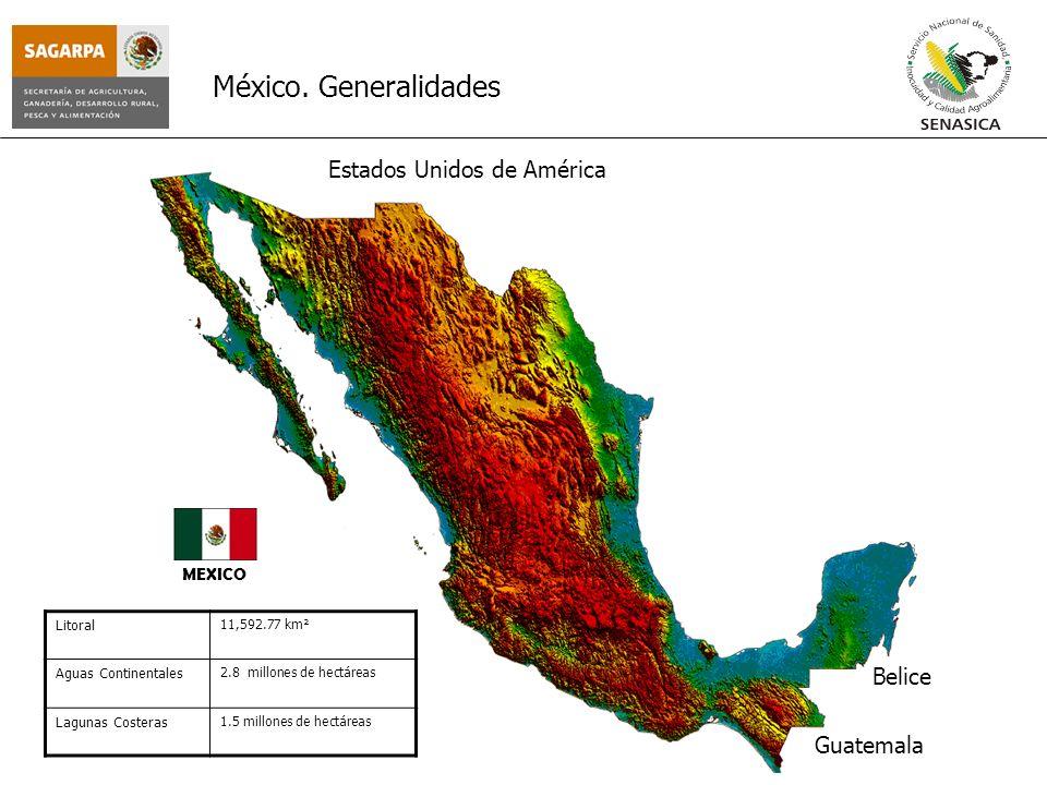 México. Generalidades Estados Unidos de América Belice Guatemala