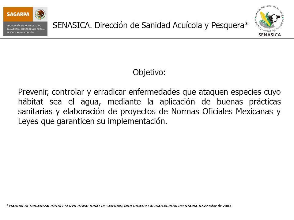 SENASICA. Dirección de Sanidad Acuícola y Pesquera*