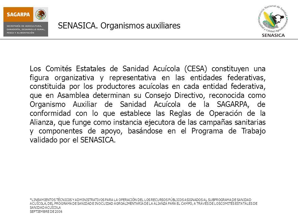 SENASICA. Organismos auxiliares