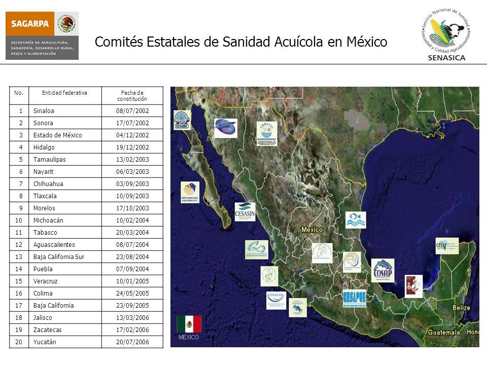 Comités Estatales de Sanidad Acuícola en México