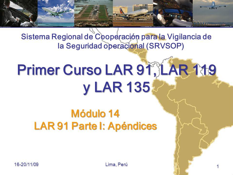Primer Curso LAR 91, LAR 119 y LAR 135