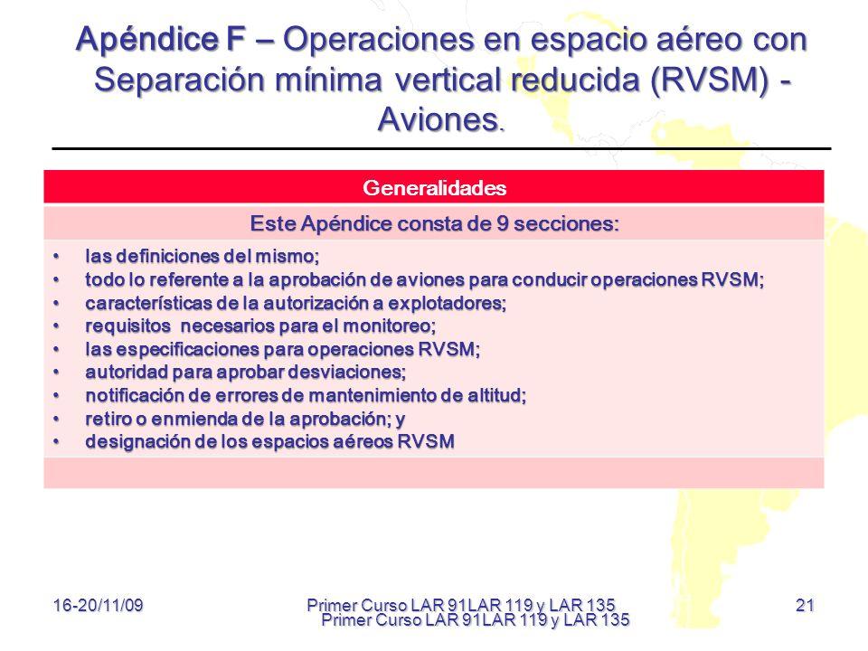 Este Apéndice consta de 9 secciones: