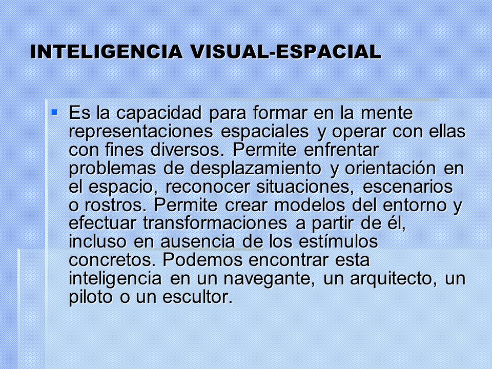 INTELIGENCIA VISUAL-ESPACIAL