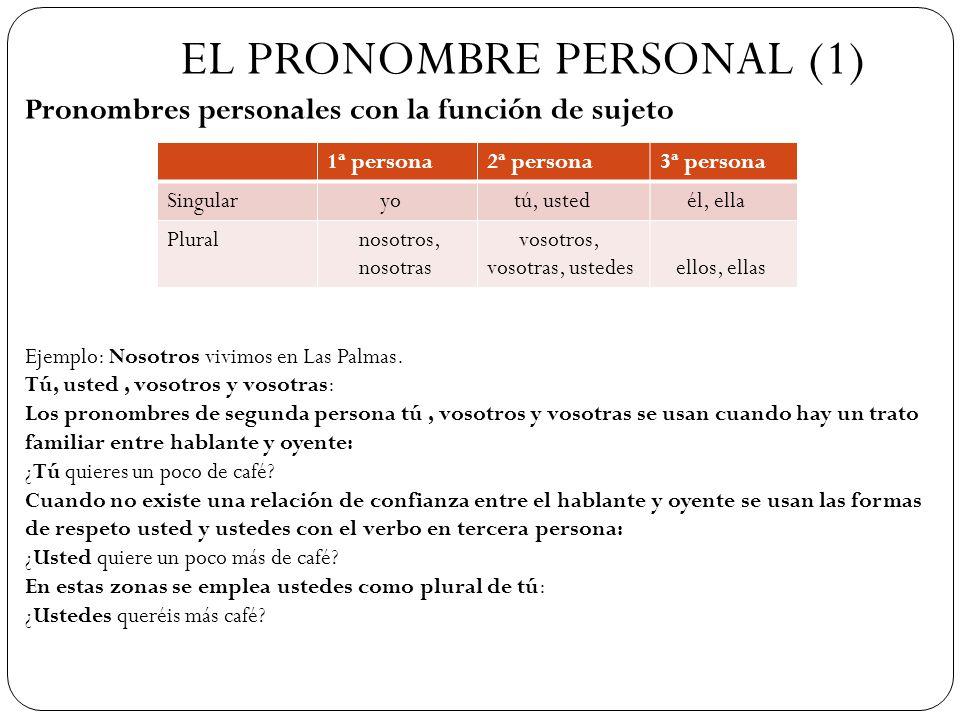 EL PRONOMBRE PERSONAL (1)