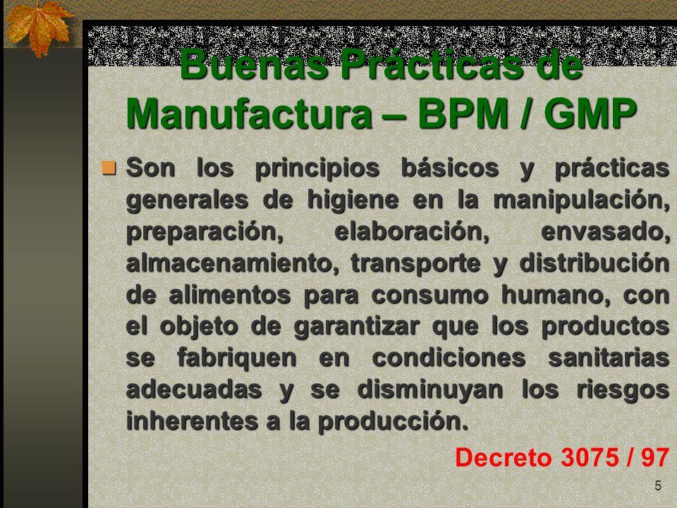 Primer momento segundo momento producci n primaria post for Manual de buenas practicas de higiene y manipulacion de alimentos