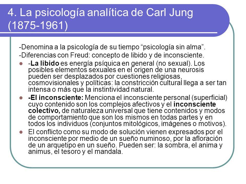 4. La psicología analítica de Carl Jung (1875-1961)