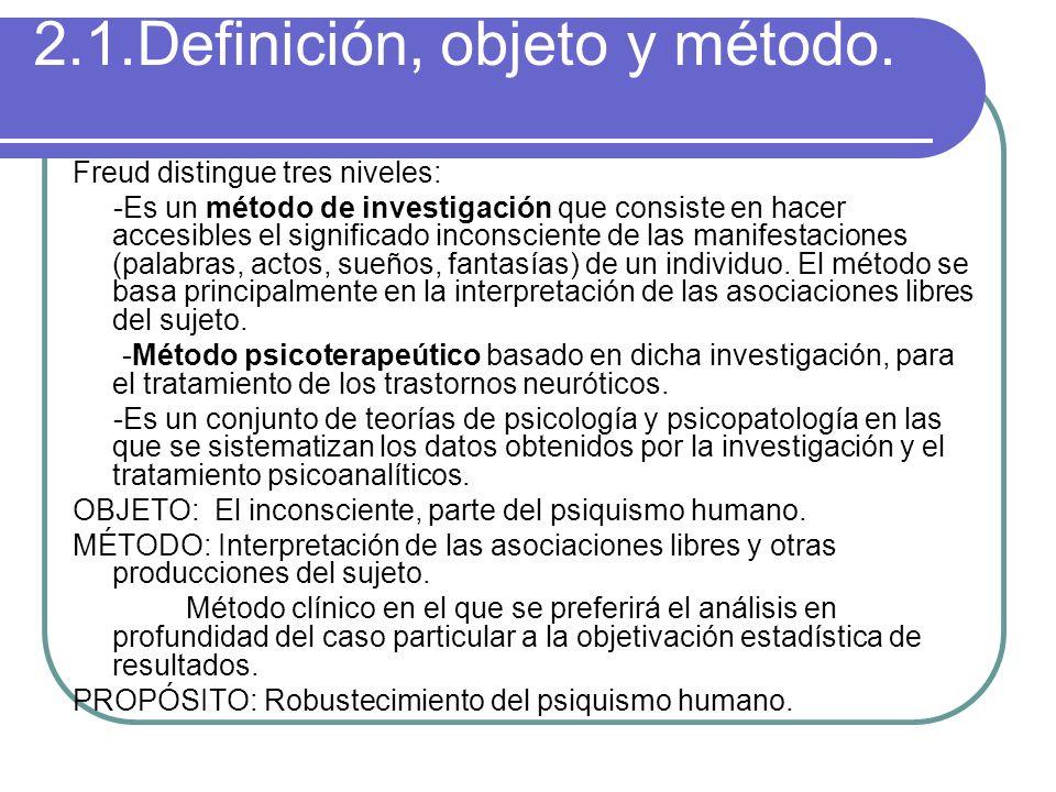 2.1.Definición, objeto y método.