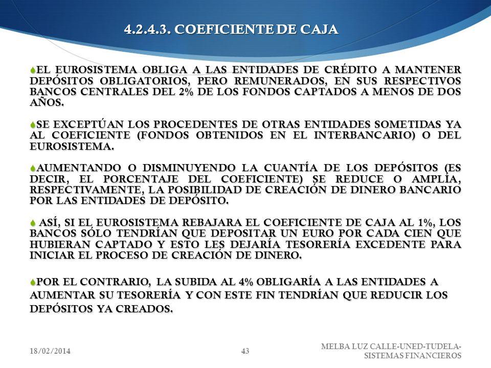 4.2.4.3. COEFICIENTE DE CAJA