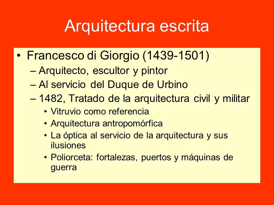 Arquitectura escrita Francesco di Giorgio (1439-1501)