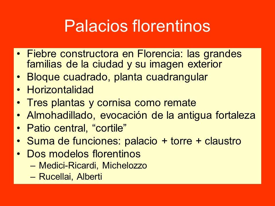 Palacios florentinos Fiebre constructora en Florencia: las grandes familias de la ciudad y su imagen exterior.