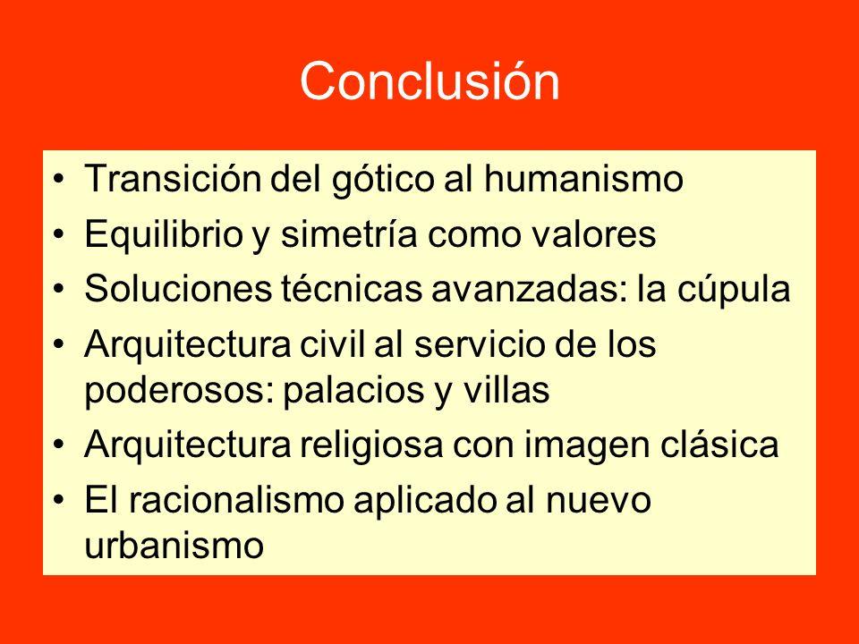 Conclusión Transición del gótico al humanismo