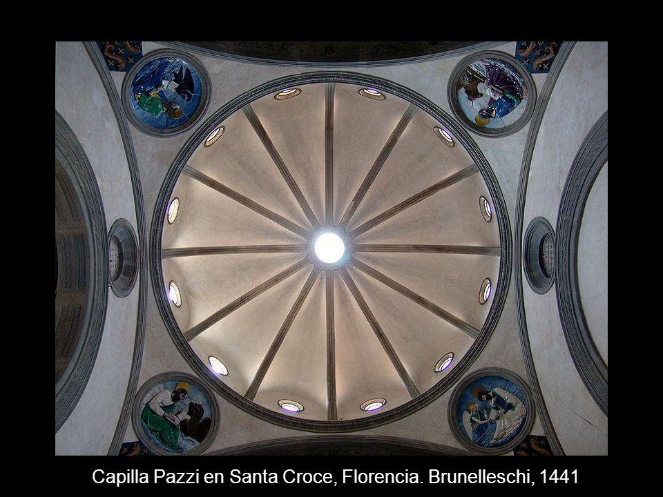 Capilla Pazzi en Santa Croce, Florencia. Brunelleschi, 1441