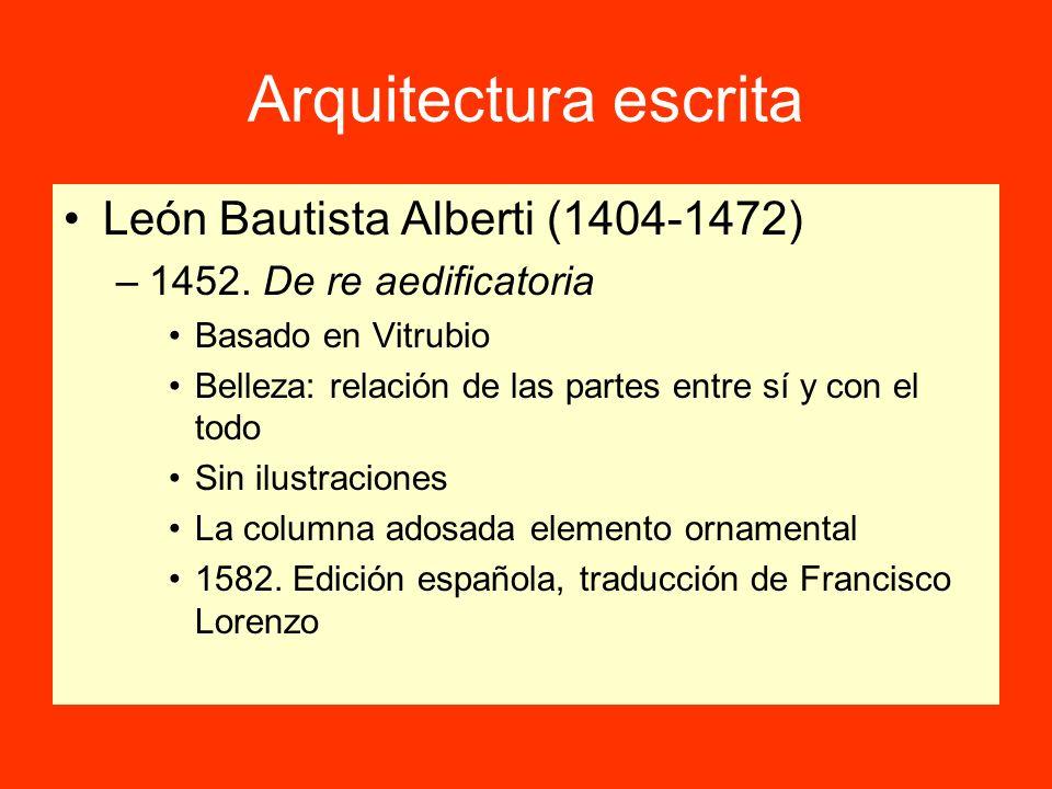 Arquitectura escrita León Bautista Alberti (1404-1472)