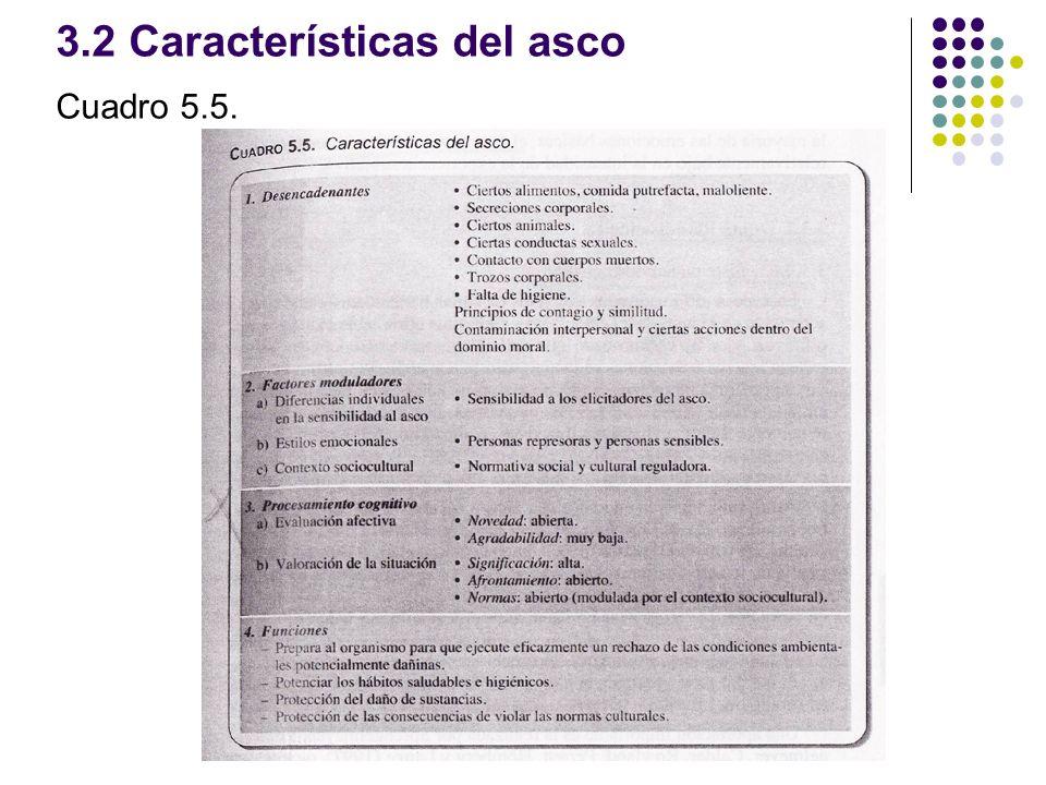 3.2 Características del asco