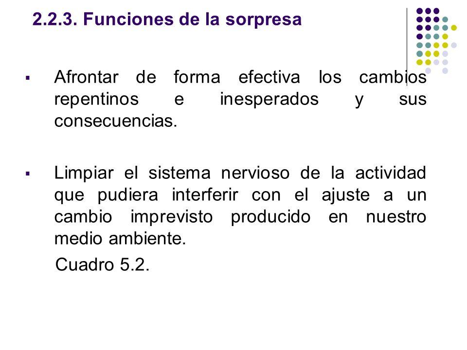 2.2.3. Funciones de la sorpresa