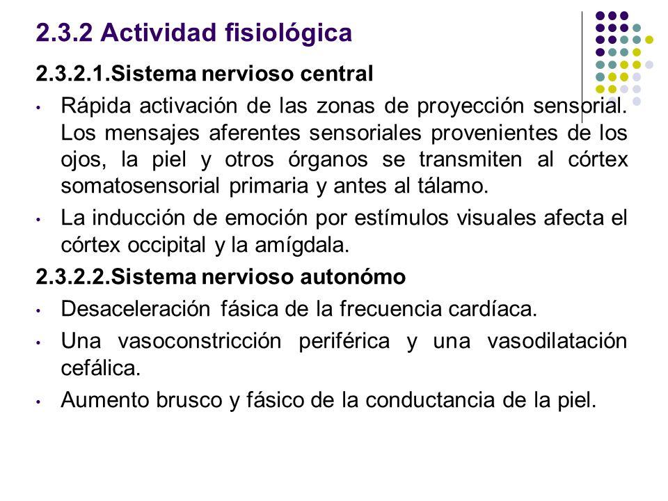 2.3.2 Actividad fisiológica