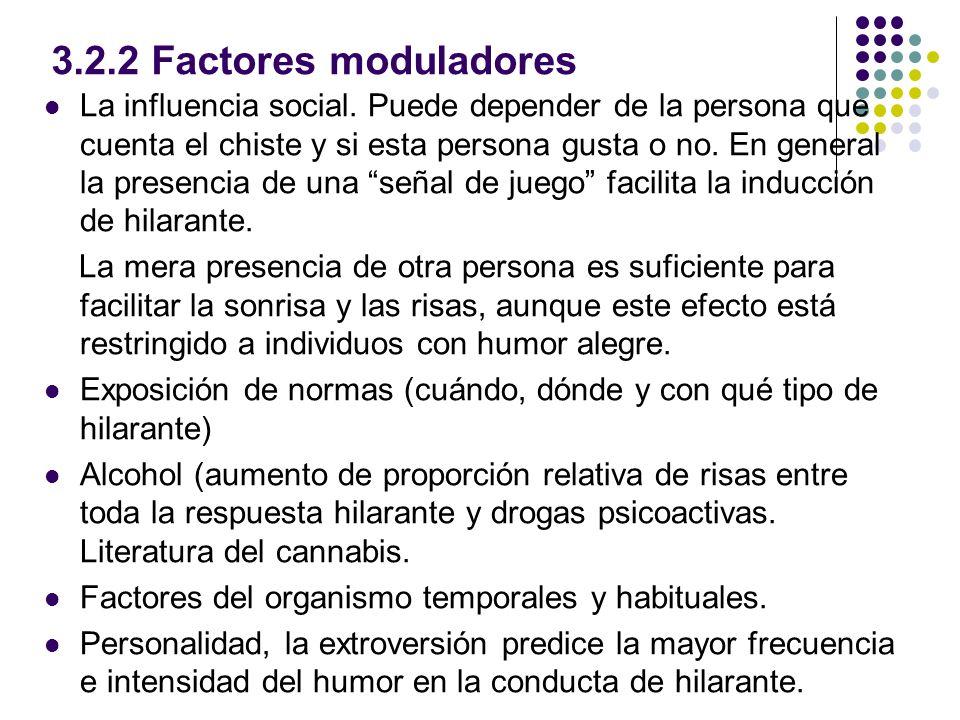 3.2.2 Factores moduladores