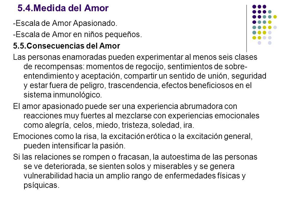 5.4.Medida del Amor -Escala de Amor Apasionado.