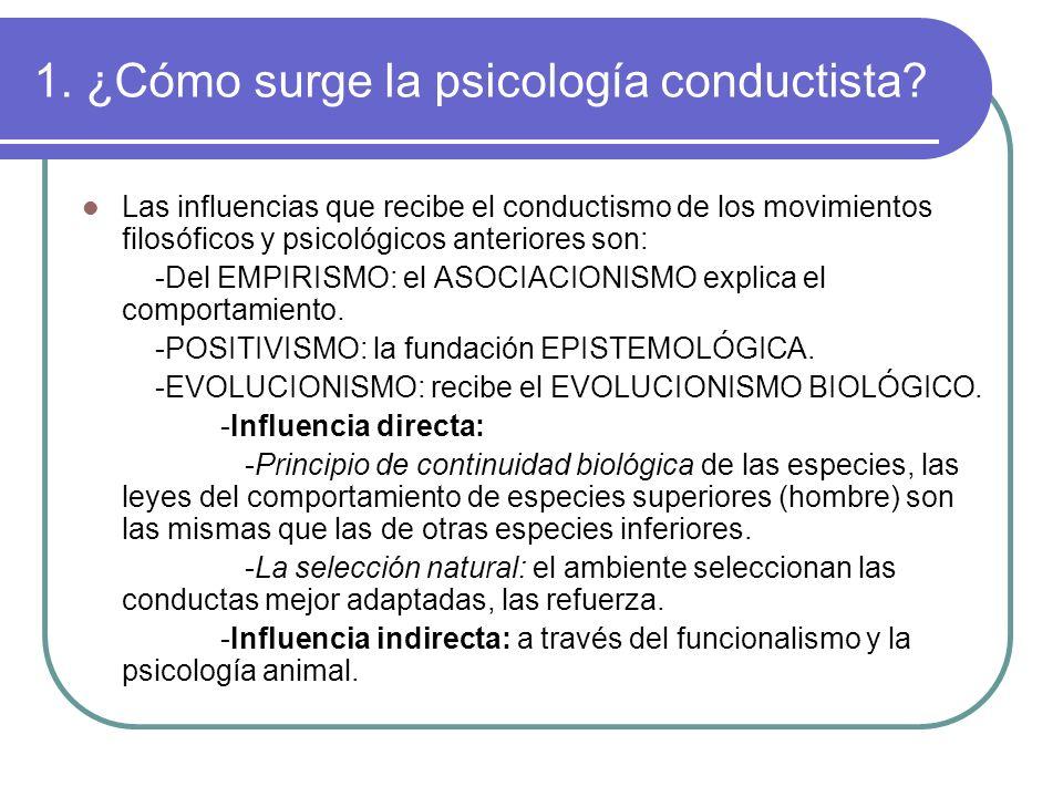 1. ¿Cómo surge la psicología conductista