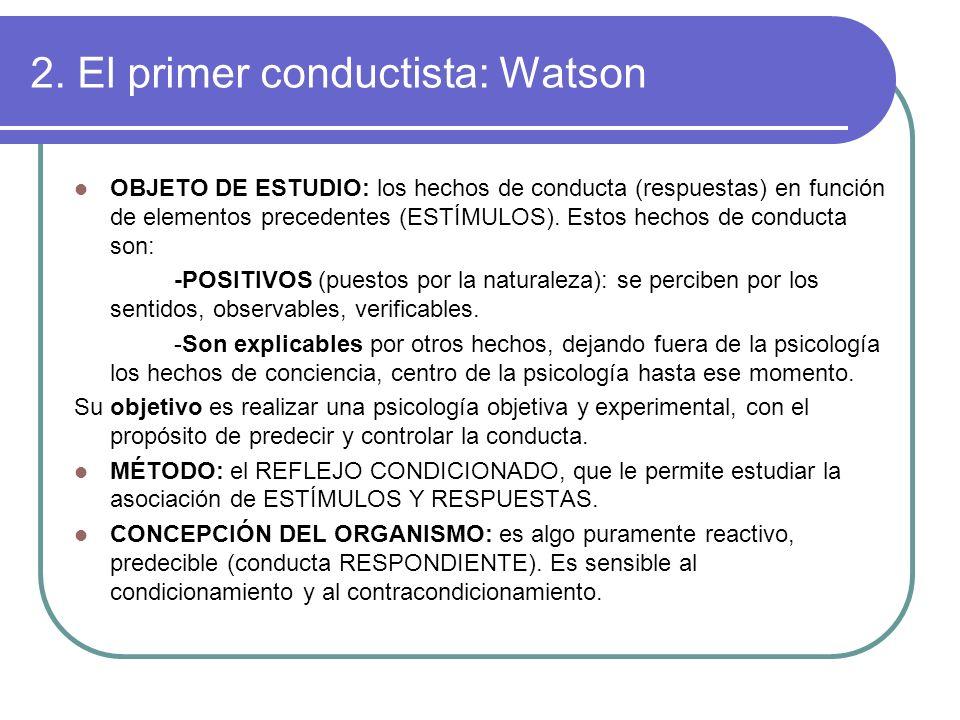 2. El primer conductista: Watson