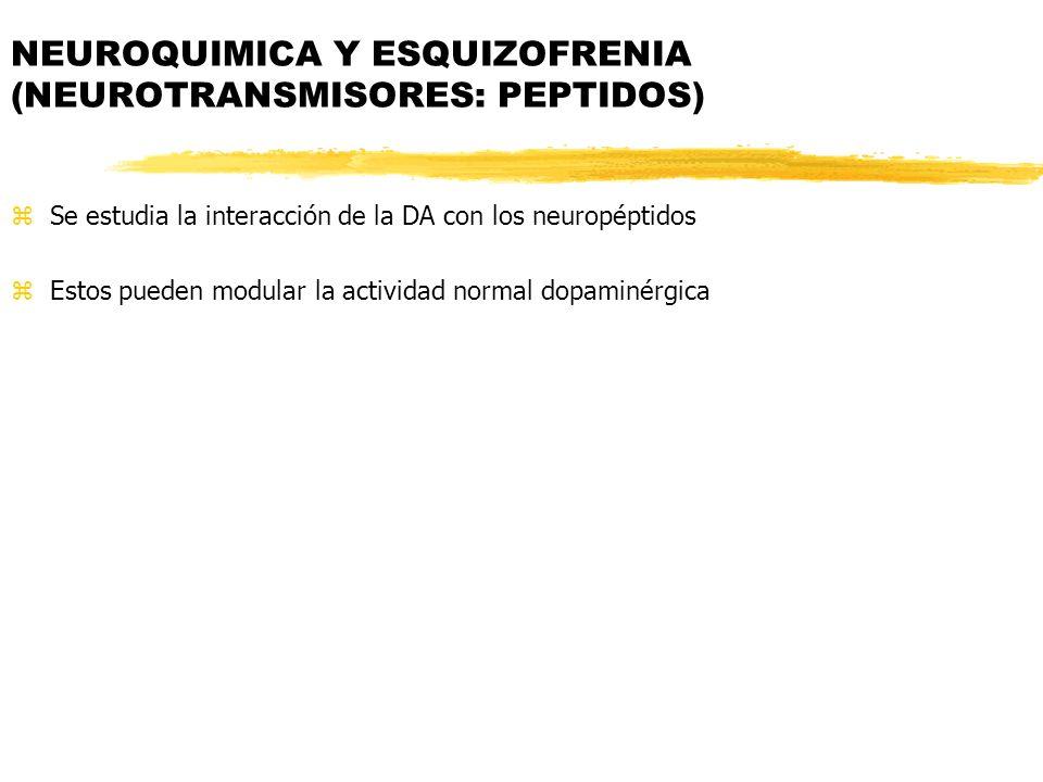 NEUROQUIMICA Y ESQUIZOFRENIA (NEUROTRANSMISORES: PEPTIDOS)
