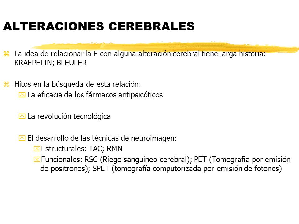 ALTERACIONES CEREBRALES
