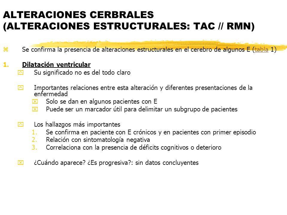 ALTERACIONES CERBRALES (ALTERACIONES ESTRUCTURALES: TAC // RMN)